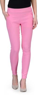 Oleva Slim Fit Women's Pink Trousers
