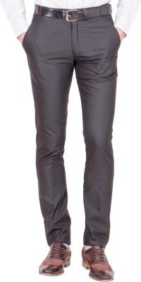 Shaurya-F Regular Fit Men's Black Trousers