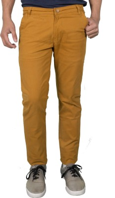 Made In The Shade Slim Fit Men's Yellow Trousers
