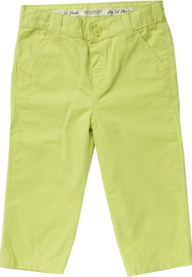 Wow Mom Regular Fit Baby Boy,s Light Green Trousers