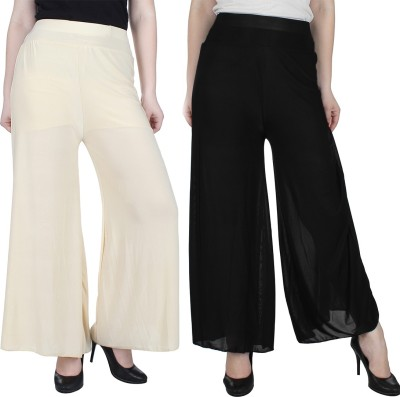 Manash Fashion Regular Fit Women's Gold, Black Trousers at flipkart