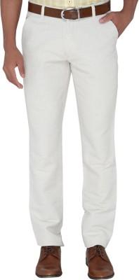 Jadeblue Slim Fit Men's White Trousers