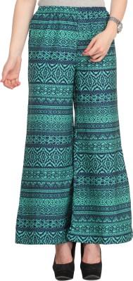 Cottinfab Regular Fit Women's Green, Blue Trousers