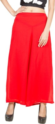 Pietra Regular Fit Women's Red Trousers