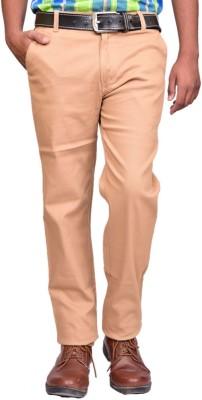 British Terminal Slim Fit Mens Cream Trousers