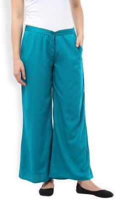 Ten on Ten Slim Fit Women's Green Trousers