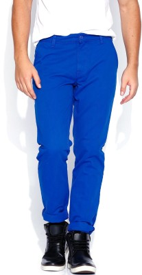 Roadster Slim Fit Men's Blue Trousers