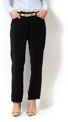 Allen Solly Regular Fit Women,s Black Trousers