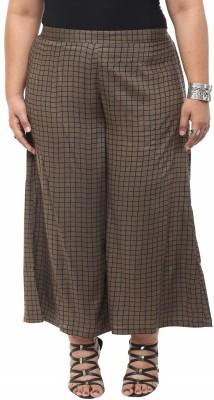 kira plus Regular Fit Women's Brown Trousers