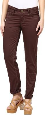 Species Slim Fit Women's Brown Trousers