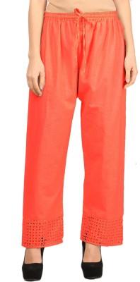 VASTRAA FUSION Regular Fit Women's Orange Trousers
