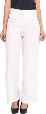 Nvl Regular Fit Women's White Trousers