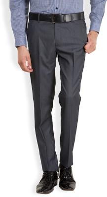 Black Coffee Regular Fit Men's Grey, Dark Blue Trousers