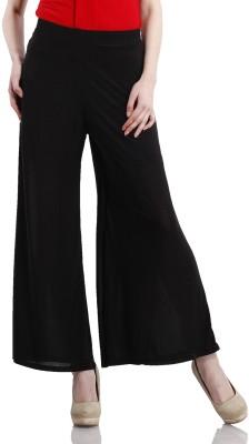 Peptrends Regular Fit Women's Black Trousers