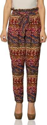 Miss Chase Regular Fit Women's Multicolor Trousers at flipkart