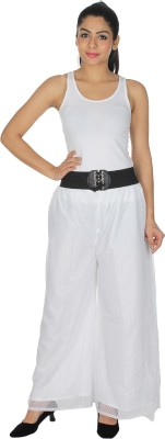 Dimpy Garments Regular Fit Women's White Trousers