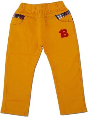 Kuddle Kid Regular Fit Boy's Yellow Trousers