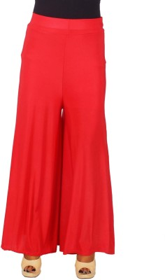 SRS Regular Fit Women's Red Trousers