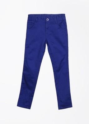 Cherokee Kids Slim Fit Girl's Blue Trousers