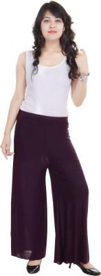 SANA FAB Regular Fit Women's Maroon Trousers