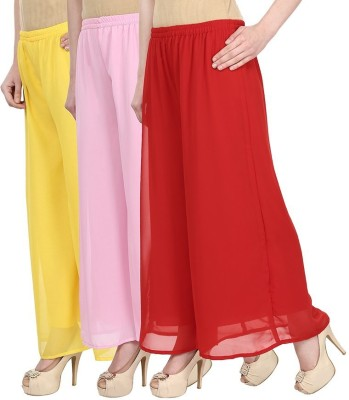 Skyline Trading Regular Fit Women's Yellow, Pink, Red Trousers