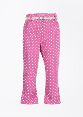Nauti Nati Baby Girl's Pink Trousers