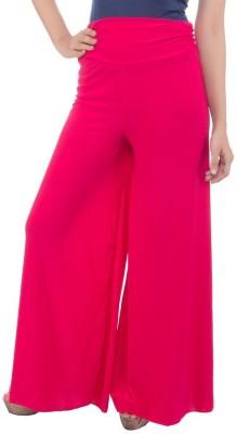 fashionmandi Regular Fit Women's Pink Trousers