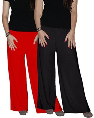 Ace Regular Fit Women's Black, Red Trousers