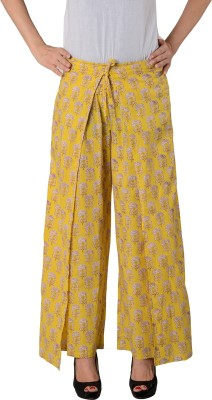 House of Tantrums Regular Fit Women,s Yellow Trousers