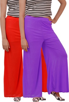 Ace Regular Fit Women's Red, Purple Trousers