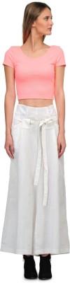 Yolo Designs Regular Fit Women's White Trousers