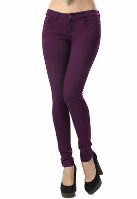 Madaam Slim Fit Women's Purple Trousers