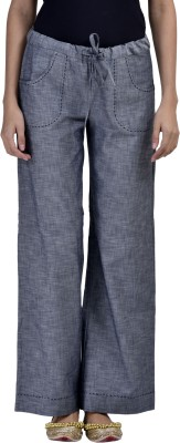 Vasstram Regular Fit Women's Grey Trousers