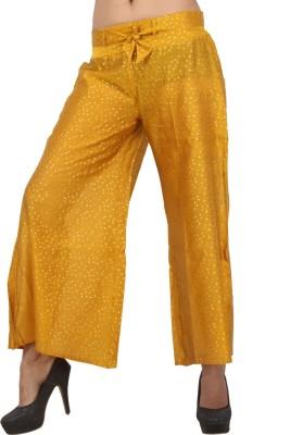 Pujarika Regular Fit Women's Orange Trousers
