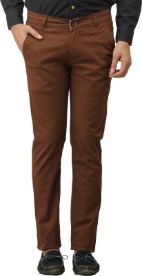Stylz Regular Fit Men's Brown Trousers