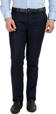 Jhampstead Slim Fit Men's Blue Trousers