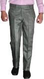 Desert Player Slim Fit Men's Grey Trouse...