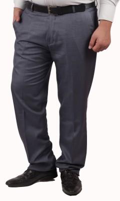 RIPARV Regular Fit Men's Grey Trousers