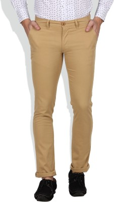 I-Voc Slim Fit Men's Beige Trousers