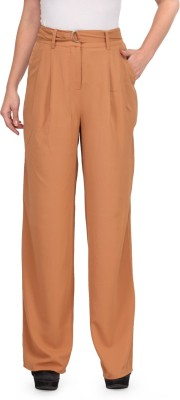 XnY Regular Fit Women's Brown Trousers