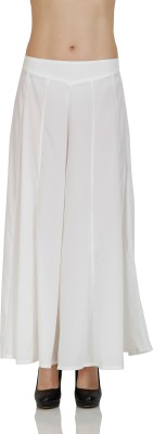 Aurelia Regular Fit Women's White Trousers