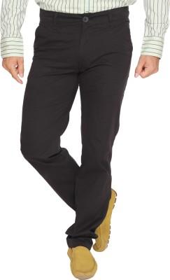 Ramarrow Slim Fit Men's Black Trousers