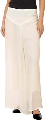 La Verite Regular Fit Women's Cream Trousers