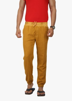 Wear Your Mind Regular Fit Men's Gold Trousers