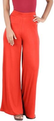 Hbhwear Regular Fit Women's Orange Trousers