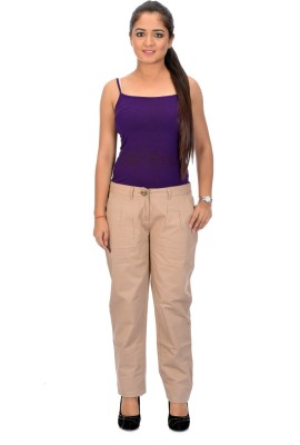 Instinct Slim Fit Women's Beige Trousers