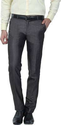 Hideouts Regular Fit Men's Grey Trousers