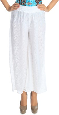 Flora Regular Fit Women's White Trousers