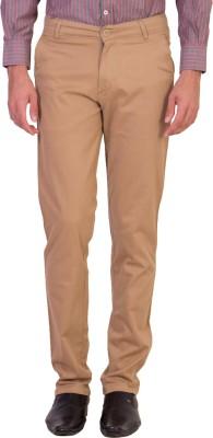 Maciej Slim Fit Men's Gold Trousers