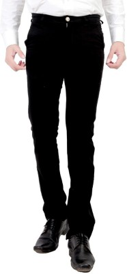 Wood Slim Fit Men's Black Trousers